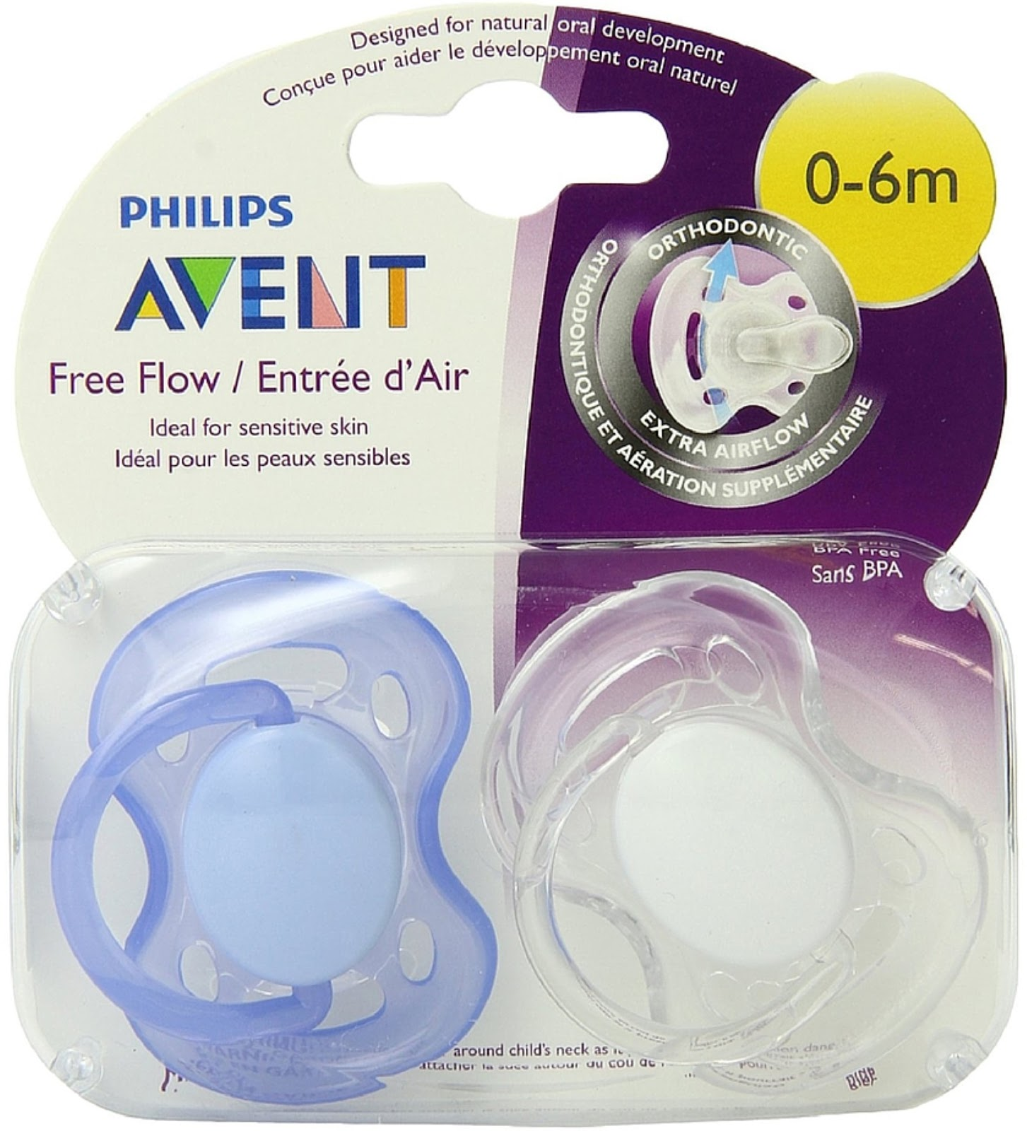 AVENT Airflow soothers 0-6 months Blue Marine