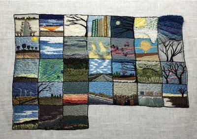 Lynn Harrigan embroidered calendar
