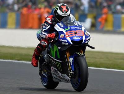 Lorenzo Kunci Pole GP Prancis, Rossi Start Ke-7