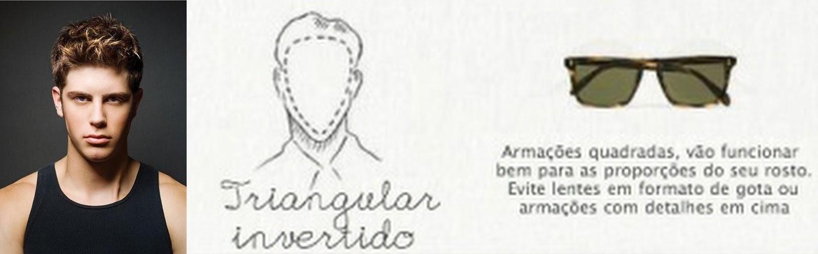 Triangular Invertido  Aos que tem esse tipo de rostos, devem usar armações  quadradas para de733f72ad