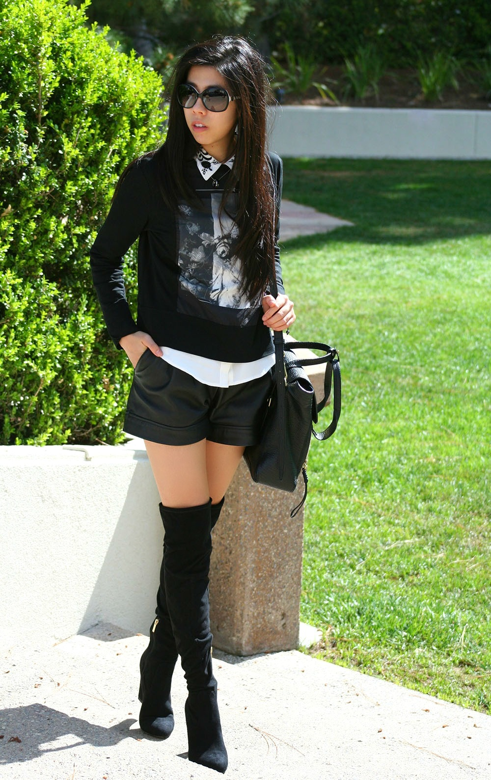 Zara Pullover_Black Grunge Look_AllBlack Everyday Casual Look_What I wear to School_Adrienne Nguyen_Invictus