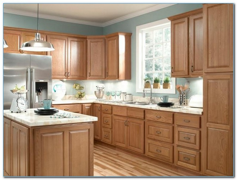 KITCHEN Color Ideas with Oak CABINETS | Home Interior ...