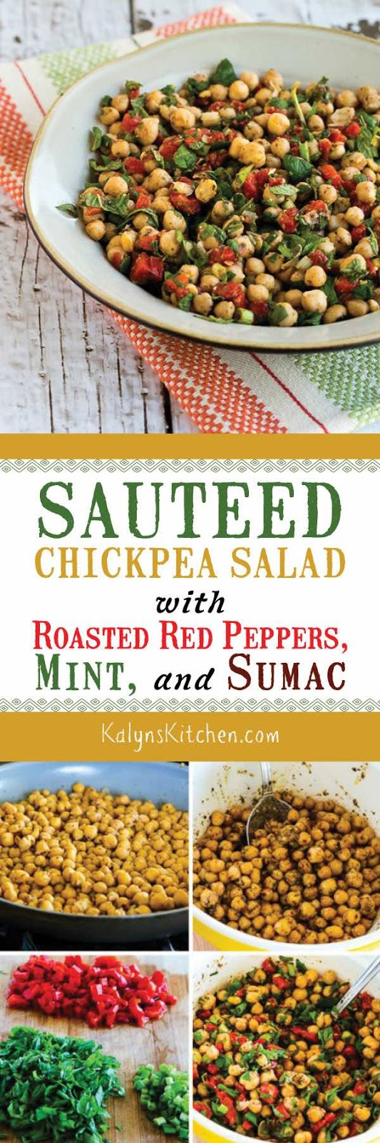 Sauteed Chickpea Salad with Roasted Red Peppers, Mint, and ...