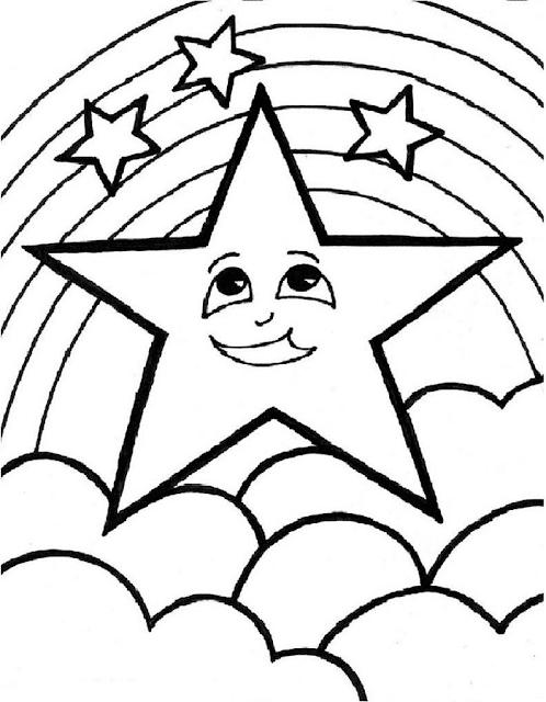 Gambar Mewarnai Bintang : gambar, mewarnai, bintang, Gambar, Mewarnai, Bintang, Untuk