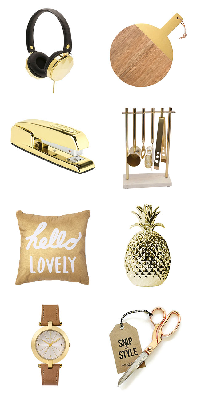 Gift guide: For the gold lover