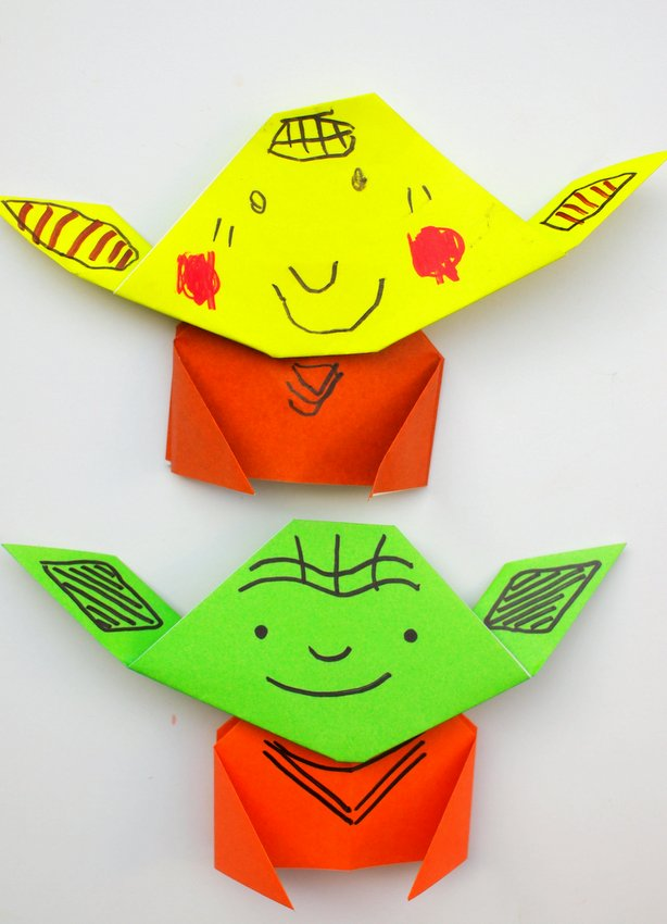 Easy Origami Yoda Instructions - How to make Star Wars origami ... | 850x614