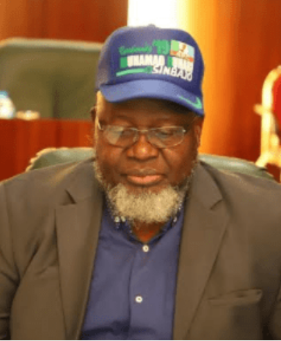 Minister-Adebayo-Shittu-wears-Buhari-campaign-cap