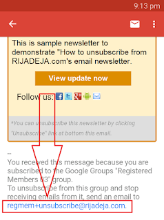 unsubscribe from newsletter