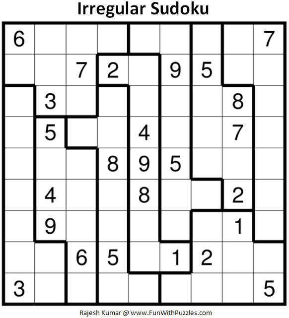 graphic regarding Jigsaw Sudoku Printable identified as Abnormal Sudoku Puzzle (Pleasurable With Sudoku #380)-Entertaining With Puzzles