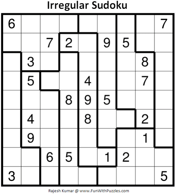 Irregular Sudoku Puzzle (Fun With Sudoku #380)
