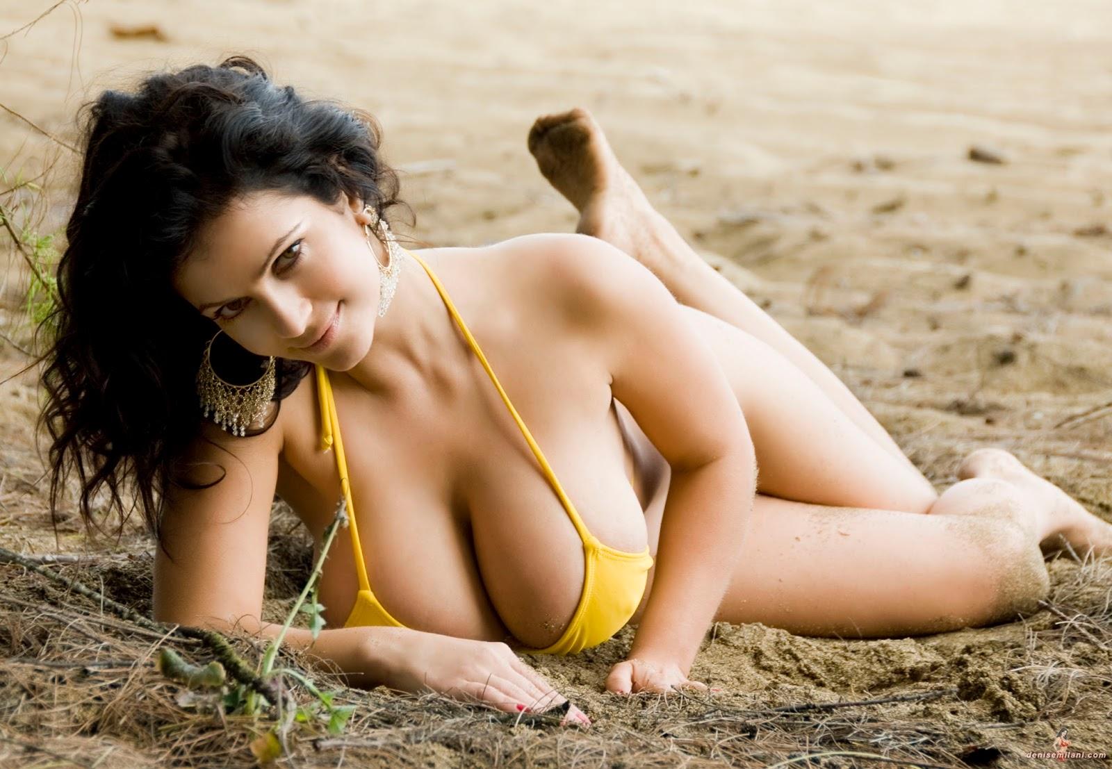 Denise Milani Sexiest Photoshoots: Denise Milani: Yellow Bikini