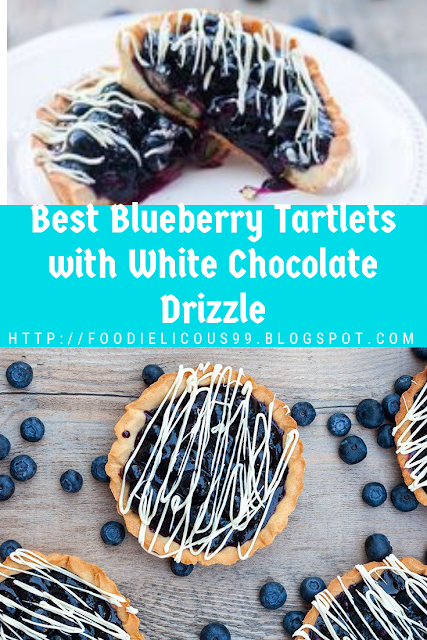 Best Blueberry Tartlets with White Chocolate Drizzle