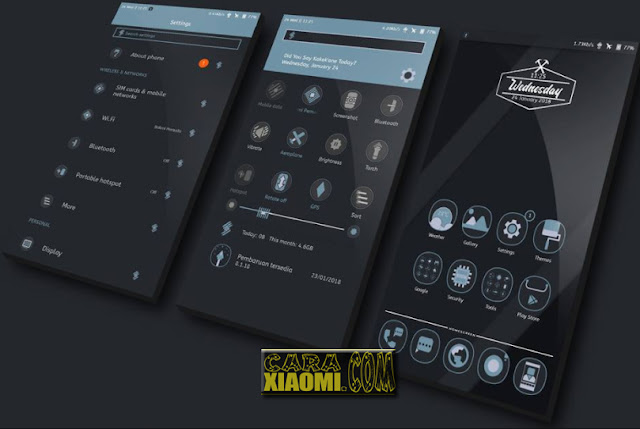 MIUI Theme Kakek'Ane ReDesign Mtz Update New Look Interface For Xiaomi Redmi