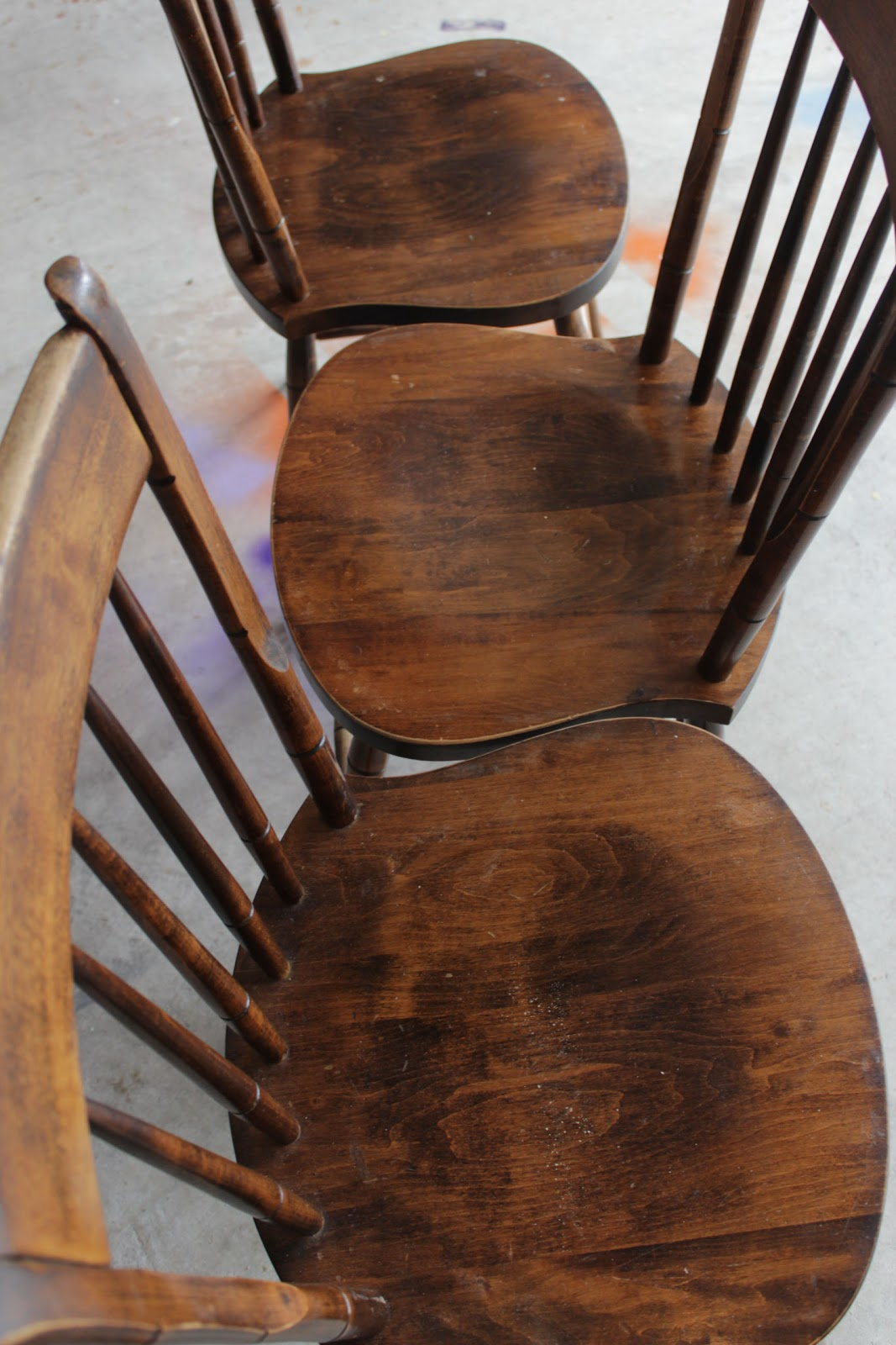 Wooden Chairs Pictures Warehouse Of Tiffany Dining Spray Painted Remodelando La Casa