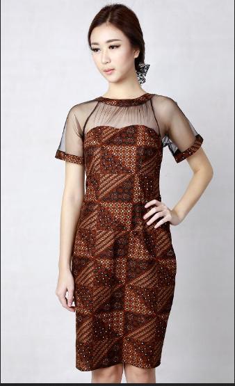 Image dress batik pesta