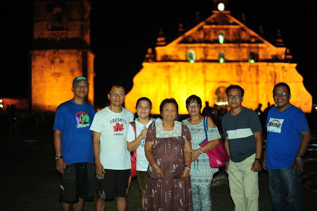 Paoay Church at night