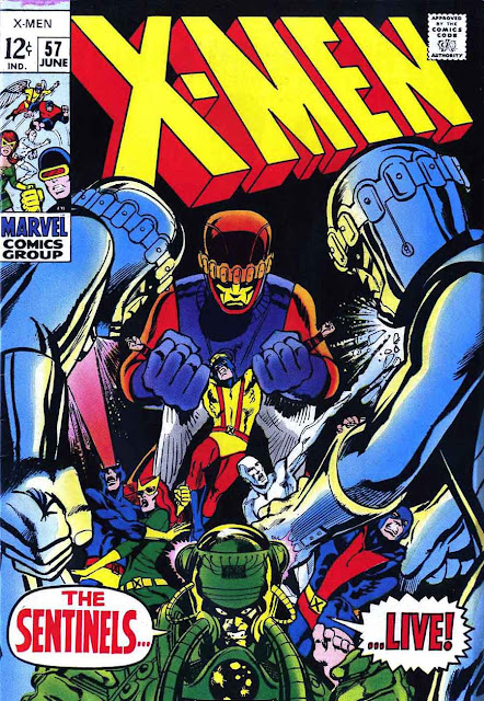 X-men v1 #57 marvel comic book cover art by Neal Adams
