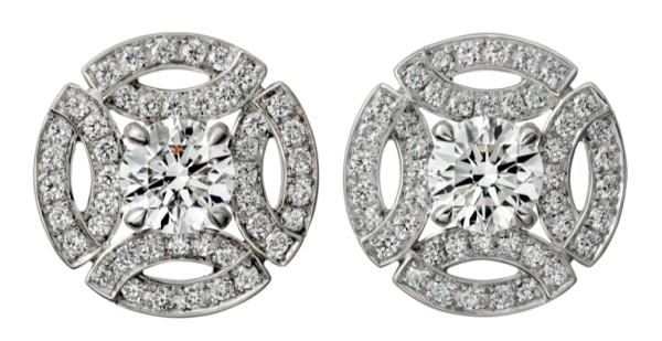 Here S A Closer Look At The Earrings From Cartier Website Firm Describes As 18k White Gold Each Set With Brilliant Cut Diamond