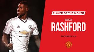 Marcus Rashford Pemain Terbaik Manchester United Bulan September