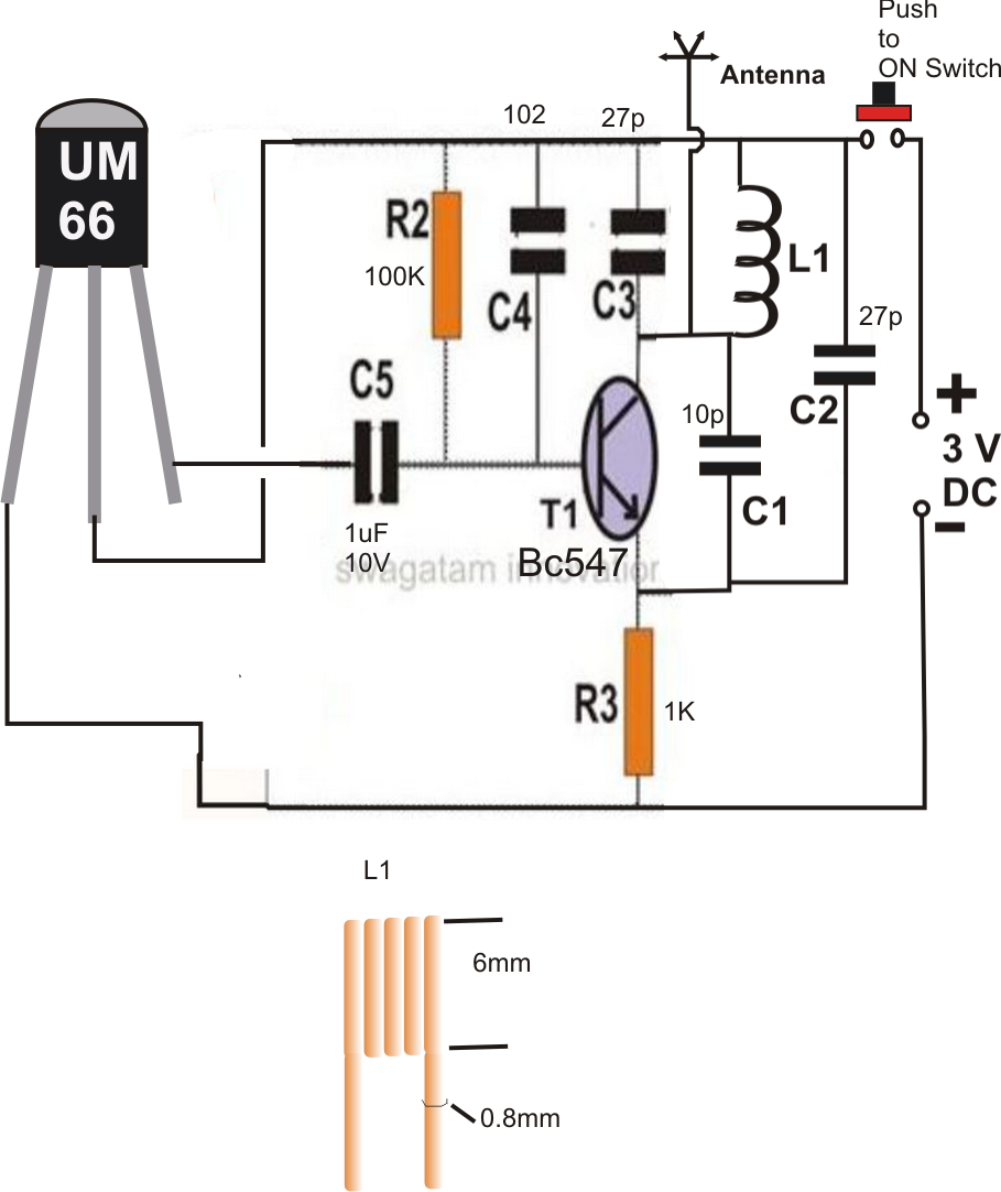 fm remote control circuit using a fm radio