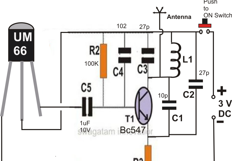 fm remote control circuit using a fm radio electronic circuit