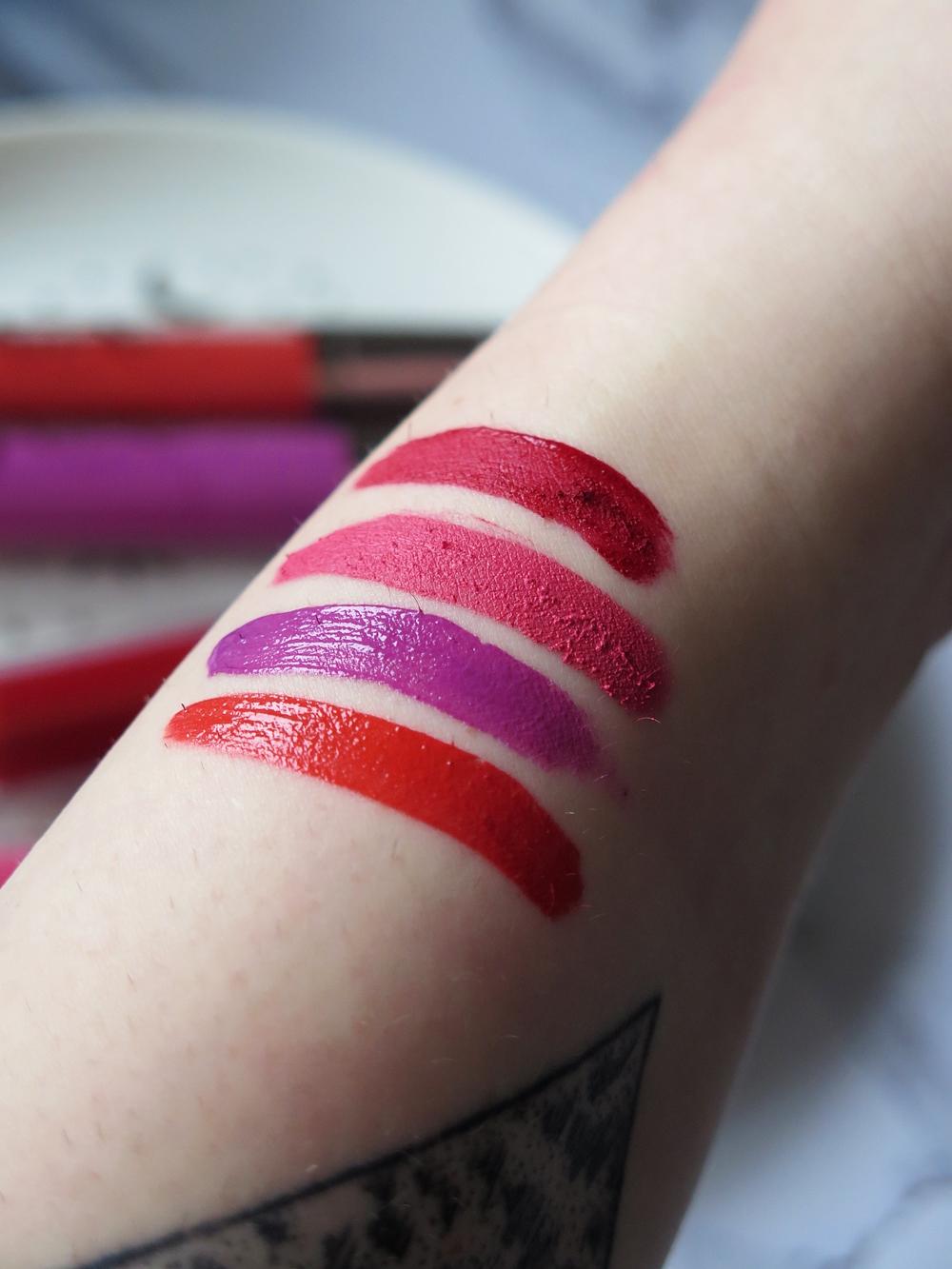 Monday Post | Makeup Geek, pomadki Plush Cream & Matte