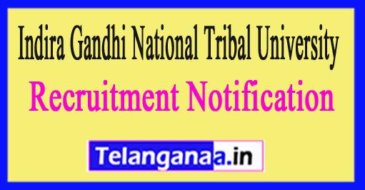 Indira Gandhi National Tribal University IGNTU Recruitment Notification 2017