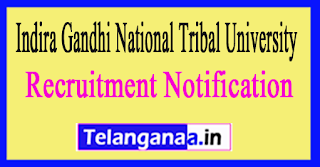 Indira Gandhi National Tribal University IGNTU Recruitment Notification 2017