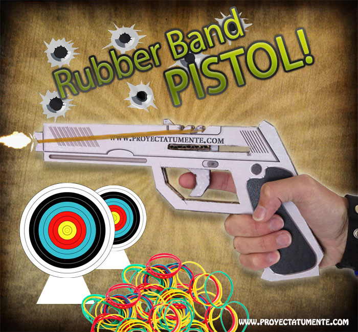 how to make a rubber band pistol proyectatumente