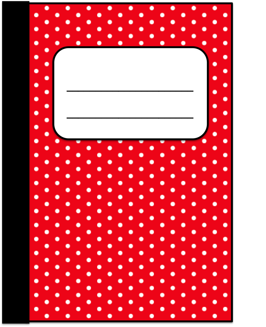 Classroom Freebies Too: Polka Dotted Journal Clip Art