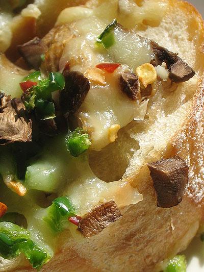 Mushroom Cheddar Cheese Toasts