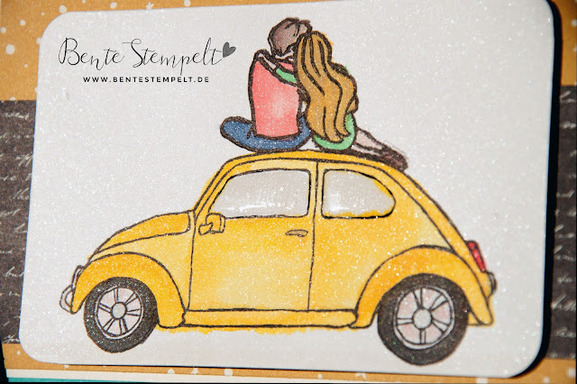 Stampin up Beautiful ride gelber vw käfer stempel