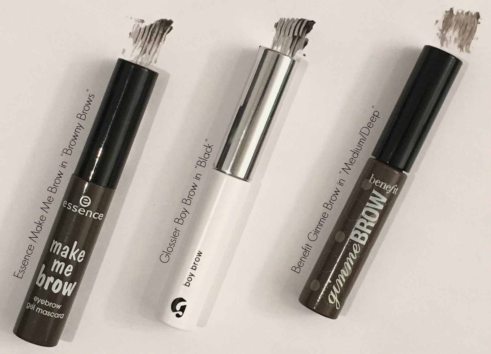 brow battle royale benefit gimme brow glossier boy brow essence