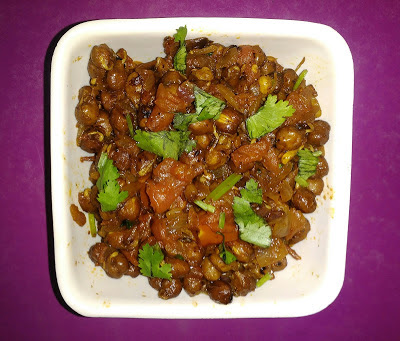 Masala Sprouted Kala Channa recipe | How to prepare Masala Sprouted Kala Channa ( Black Chickpeas)?