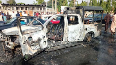 Angry Youths Burn Customs Vehicle Over 5 Bags Of Rice