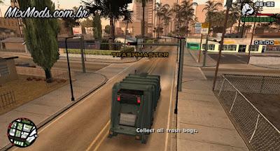 missão de caminhão de lixo gta sa