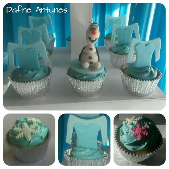 Cupcake Olaf e Elsa - Frozen