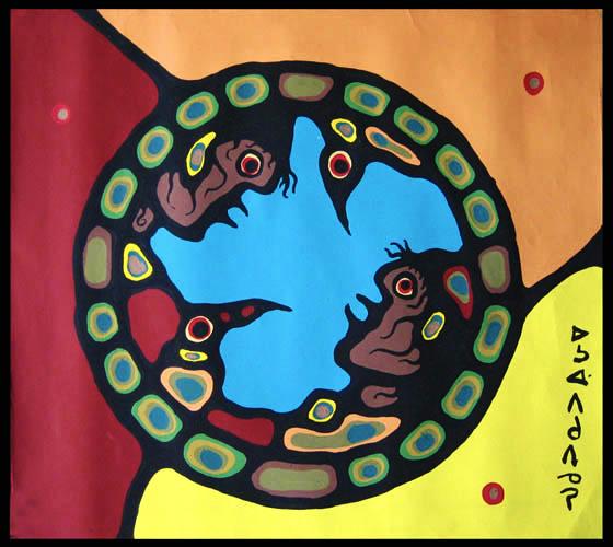 Medicine Wheel Miskwaabik Animikii Copper Thunderbird
