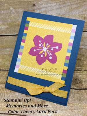 Stampin' Up! Color Theory Card Pack from the Memories and More Product Line. This summer card was created by Kay Kalthoff.