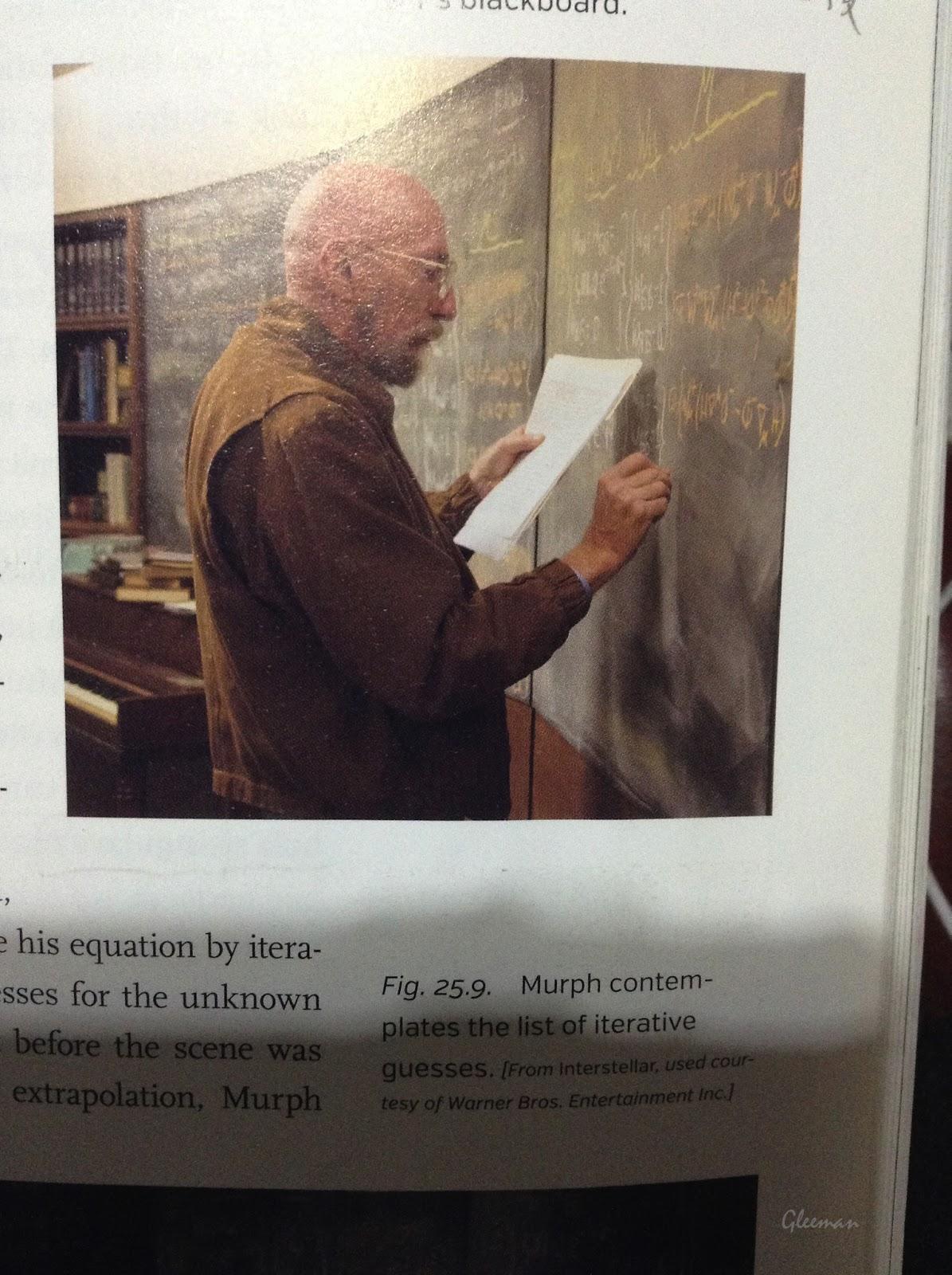 索恩正在寫方程式