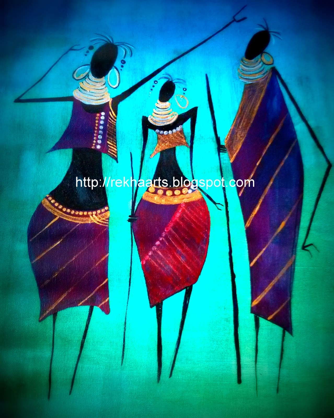 Lord Krishna Abstract Paintings
