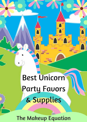A list of unicorn party favors and supplies for a unicorn birthday party that your guests will love and actually be able to use.