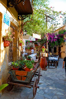 Courtyard Restaurant Chania Crete Greece
