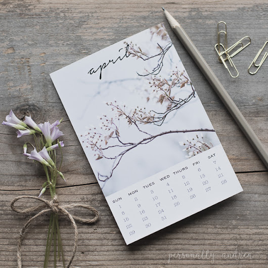 Welcome April | Printable Calendar Postcard