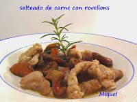 Salteado de carne con Rovellons