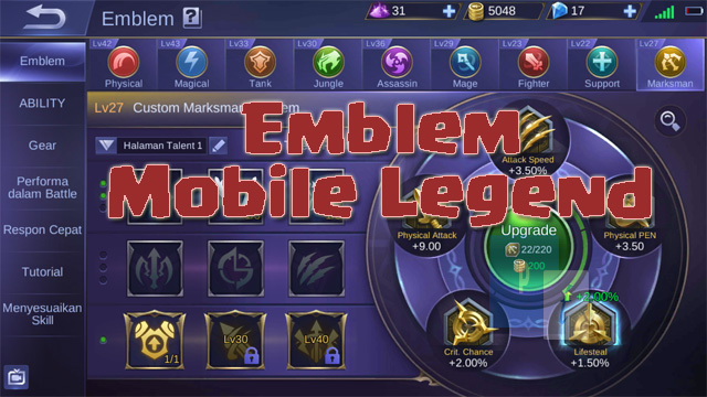 Emblem Mobile Legend