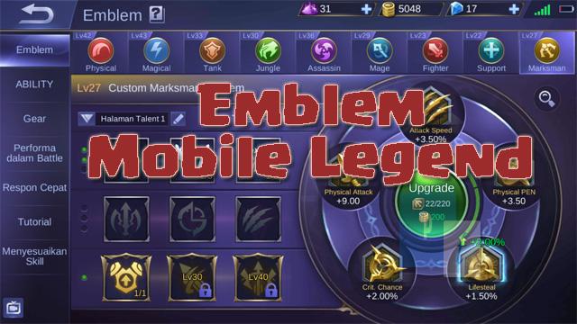 Emblem Mobile Legend