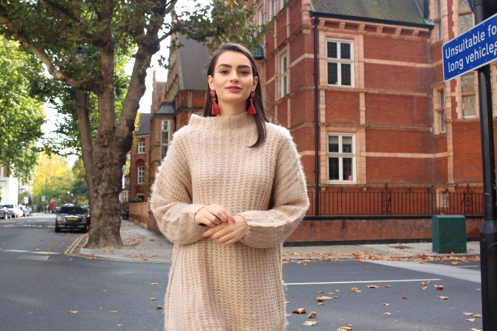 autumn jumper dress style peexo blogger