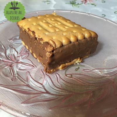 γλυκό με μπισκότα και κρέμα