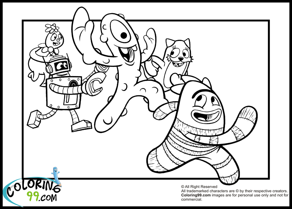brobee coloring page - the gallery for yo gabba gabba dj lance coloring pages